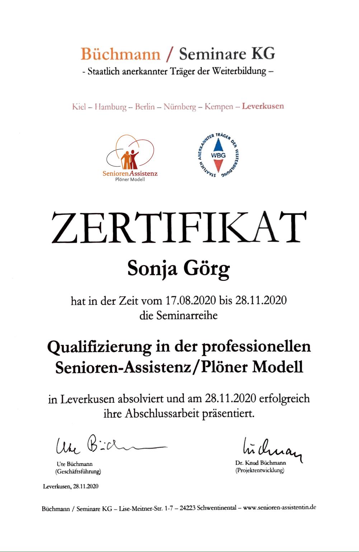 Zertifikat Plöner Modell